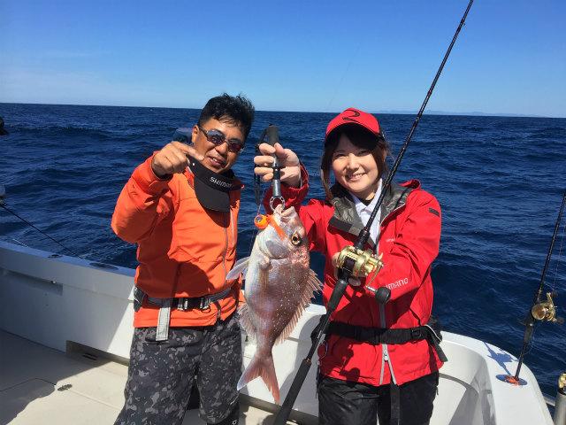 村田さん真鯛ファイト2